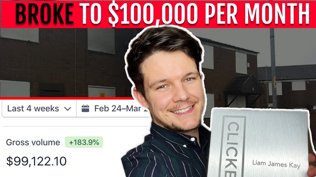 How I went from broke to one hundred thousand dollars a month with my laptop.